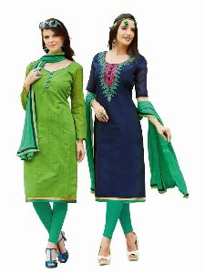 Navy Blue Colored Combo Pack Salwar Suit