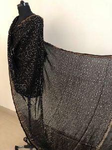 Chanderi Silk All Over Mukaish Work Dupatta