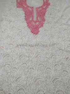 Pink Unstitched Suit With Chikankari Embroidery