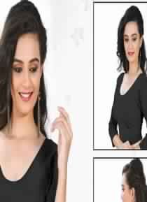Knitted Soft Cotton Mixed With Spandex Comfortable And Stylish Blouse