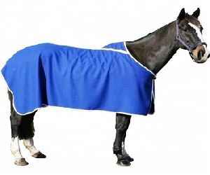 Navy Horse Wool Show Rug