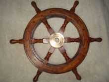 Nautical Wheel--wooden