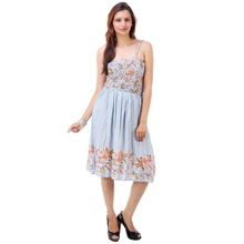 Printed Ladies Casual Dresses For Summer