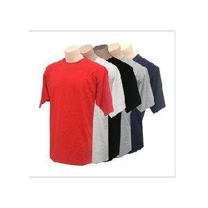 Fashion Plain Black Mens Round Neck T Shirts