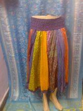 Vintage Silk Patchwork Bobbin Skirt