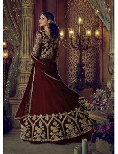 Faux Georgette Fancy Anarakali Suit