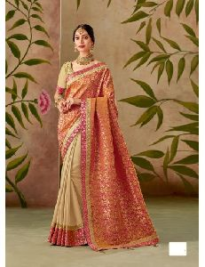 Heavy Work Wedding Wear Saree