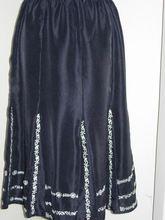 Silk Skirt With Chikan Emb
