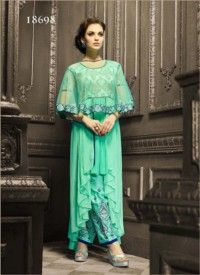 Viva N Diva Pink Color Georgette And Net Anarkali Salwar Suit