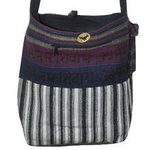 Bohemian Patchwork Block Print Hand Bag, Sling Cotton Shoulder Bag