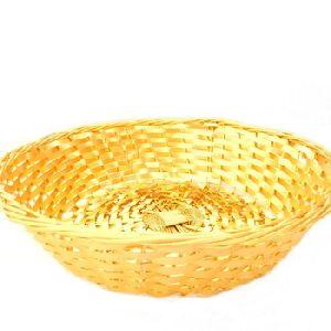 Traditional Metal Handwoven Fruit Bread Aluminium Basket