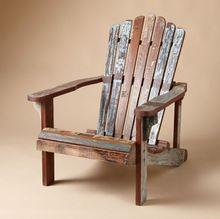 Multicolor Reclaim Arm Rest Wooden Beach Chair