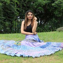 Flyred Women Indian Skirt Tired Casual Hippie Boho Skirt