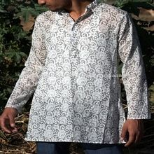 Handmade Garments Printed Cotton Voile Fabric Jaipuri Printed Kurta