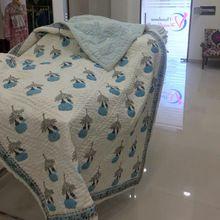 Jaipuri Print Cotton Hand Stitch Comforter Set