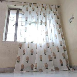 Printed Long Window Curtain