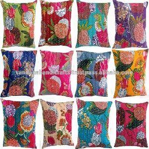 Square Shape Suzani Embroidered Cushion