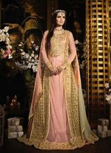 Yogeshvar Embroidered Pink Wedding Dress