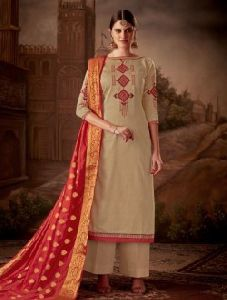 Casual Wear Cotton Silk New Designer Churidar Suit