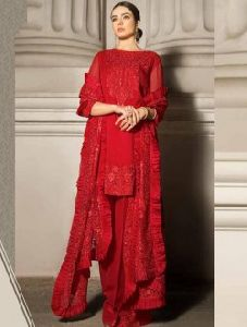 Georgette Heavy Embroidery Work Pakistani Style Salwar Suit