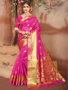 Maroon Weaving Silk Festival Wear Zari Work Saree