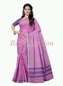 Lavendar Pure Cotton Saree