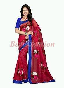 Rani Pink Net Saree