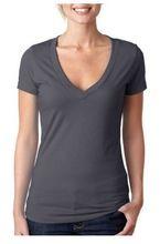 Latest Fashion Design Deep V Neck Tshirt For Women