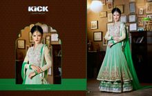 Wonderful Faux Georgette Embroidered Green Anarkali Suit