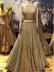 Gold Net Multi Wedding Lehenga Choli