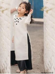 Kids Cotton Embroidery Salwar Kameez