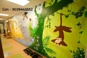 Cartoon Pictures For School Wall Painting By Rk Fine Art School Wall Cartoon Pictures Painting Id 5306773