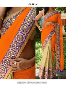 Designer Silk Embroidery Saree