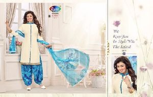 White Neck Embroidery Salwar