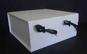 withe color handmade cotton paper solid boxes