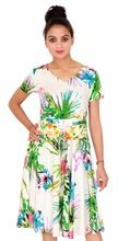 Rayon Casual Womens Floral Printed Dress