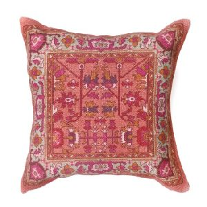Indian Pink Color Digital Print Cotton Cushion Cover
