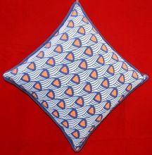 Blue Design Printed Cotton Sheeting Cushion
