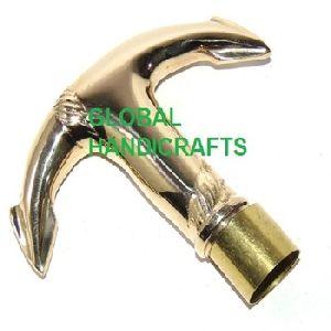 Nautical Collectible Anchor Brass Walking Sticks Handle