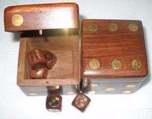 Nautical Home Decor Wooden Dice Box