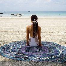 Indian Mandala Hippie Star Design Roundie Boho Yoga Mat Throw Tapestry