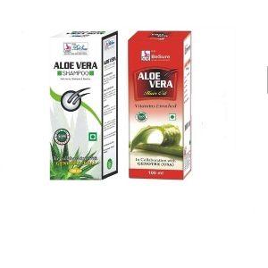 Aloe Vera Shampoo With Besure Aloe Vera Hair Oil