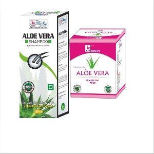 Aloe Vera Shampoo With Besure Aloe Vera Pimple Gel