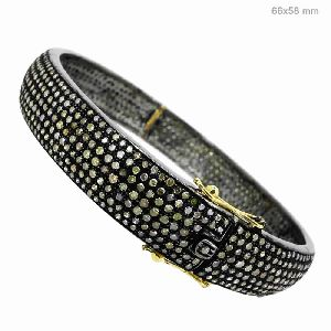 Pave Set Diamond Bangle Jewelry