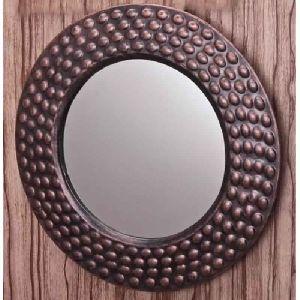 Mirror Round Iron Frame Antique