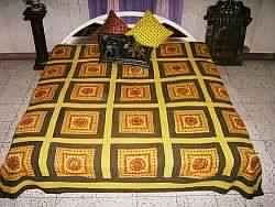 Hand Embroidery Patchwork Embroidered Bedspreads