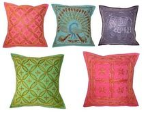 Indian Hand Embroidered Cushion Covers