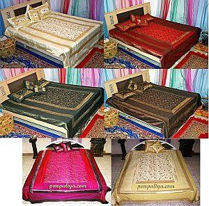 Silk Embroidered Bedspreads