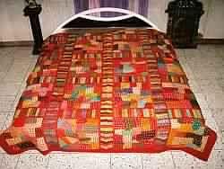 Vintage Embroidered Bedspreads-bedding