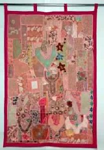 Vintage Sari Patchwork Tapestry Indian Sari Patchwork Curtain